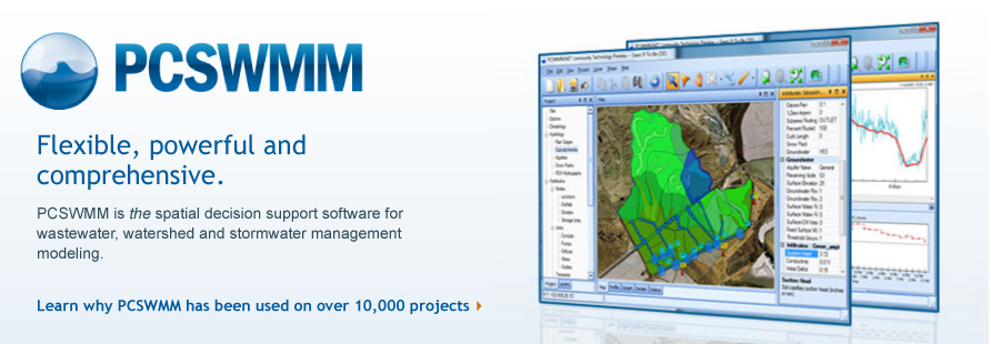 PCSWMM is the user-friendly spatial decision support software for watershed, wastewater and stormwater management modeling.